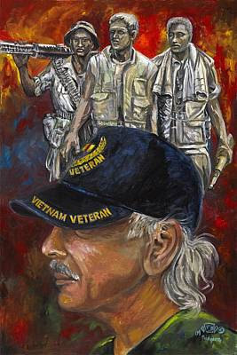 Painting - First Military Portrait by Ken Pridgeon