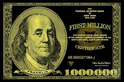 First Million Certificate Art Print