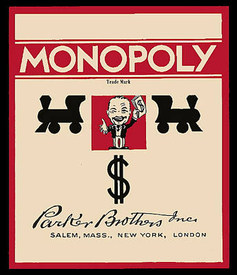 Game Piece Painting - First Monopoly Cover by Paul Van Scott