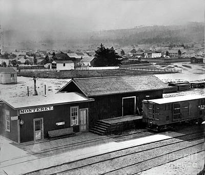 Photograph - First Monterey Depot 1875 by California Views Mr Pat Hathaway Archives
