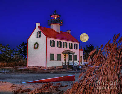 Photograph - First Moon Of 2018 by Nick Zelinsky