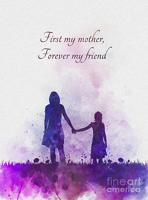 Mixed Media - First My Mother Forever My Friend by Rebecca Jenkins