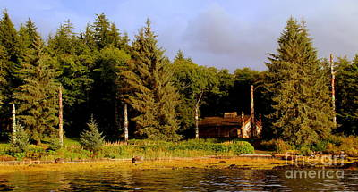 Photograph - First Nation Lodge And Totem by Lennie Malvone