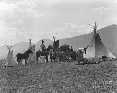 First Nations Camp, C.1930s Art Print by H. Armstrong Roberts/ClassicStock
