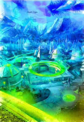 Futurist Painting - First Order City - Da by Leonardo Digenio