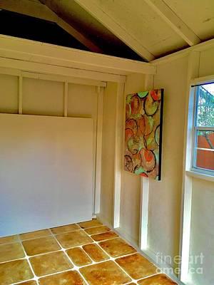 Digital Art -  First Painting In New Gallery Shed Photo  by Lisa Kaiser