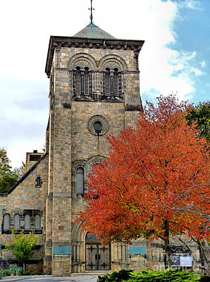 Photograph - First Parish Church In Fall by Janice Drew