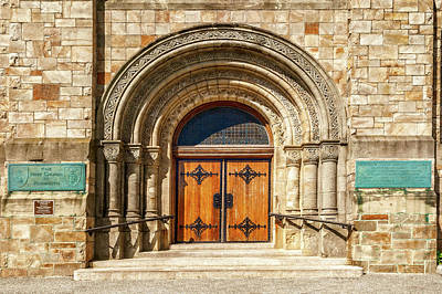Photograph - First Parish Church Main Entrance Plymouth  -  1889firstparishchurchentranceplymouth184856 by Frank J Benz