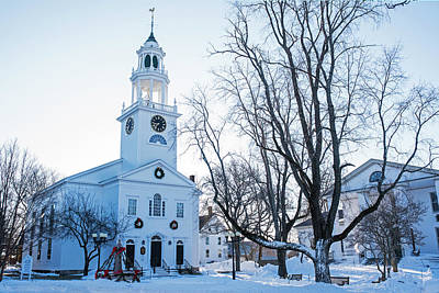 Photograph - First Parish Church Manchester Ma North Winter Snow by Toby McGuire