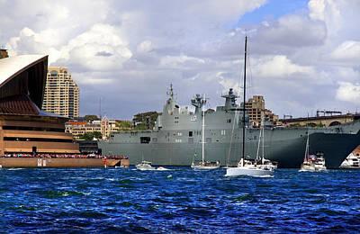 Photograph - First Peak At Australia's Newest Warship by Miroslava Jurcik
