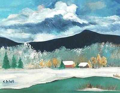 Painting - First Pennsylvania Snow by Christina Schott