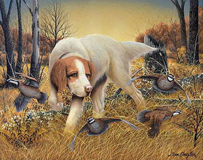 Setter Pointer Art Painting - First Point by Don Engler