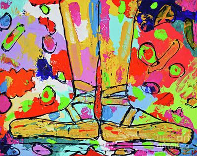 Painting - First Position by Zaira Dzhaubaeva