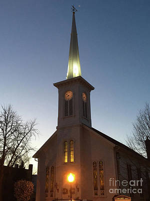 Photograph - First Presbyterian Churc Babylon N.y After Sunset by Steven Spak