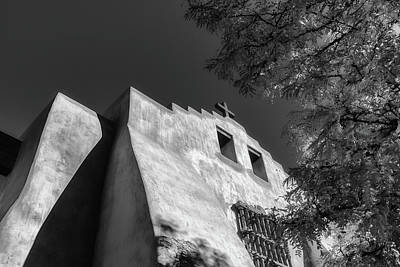 Photograph - First Presbyterian Church Of Santa Fe In Bw by James Barber