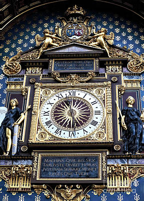 Of Artist Photograph - First Public Clock In Paris by John Rizzuto