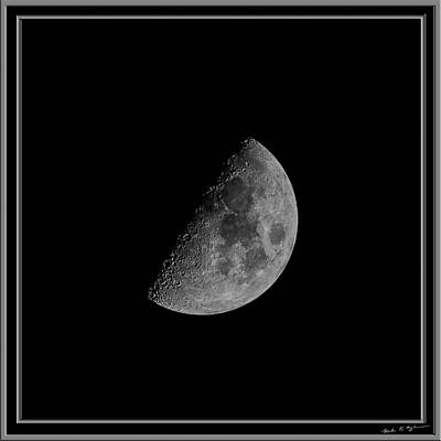 Mark Myhaver Rights Managed Images - First Quarter Moon 53 Royalty-Free Image by Mark Myhaver