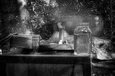 Photograph - First Run Of Moonshine In Black And White by Greg Mimbs