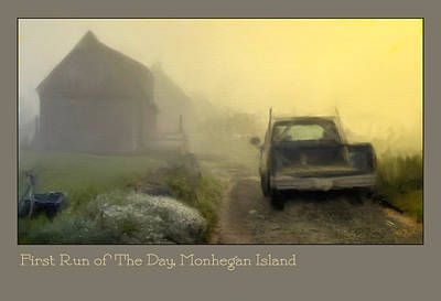 Photograph - First Run Of The Day, Monhegan Island  by Dave Higgins
