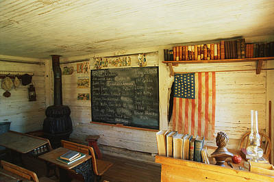 One Room School Houses Photograph - First School In Montana by Panoramic Images