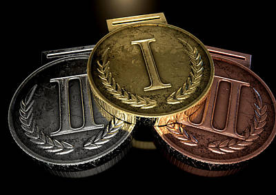 Award Digital Art - First Second And Third Medals by Allan Swart