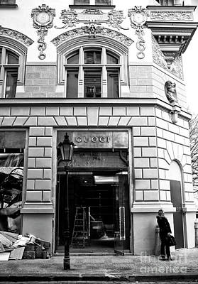 Gucci Photograph - First Shopper by John Rizzuto