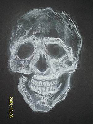 First Skull Work Art Print by Nancy  Caccioppo