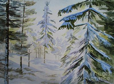 Painting - First Snow And Sunshine by Martin Howard