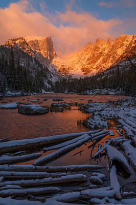 Water Photograph - First Snow At Dream Lake by Dustin LeFevre