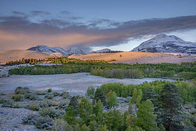 Photograph - First Snow At Dunderberg Meadows by Alexander Kunz