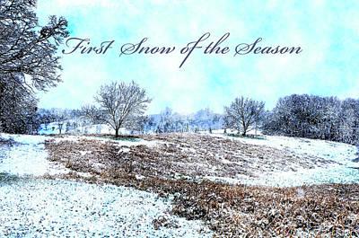 Digital Art - First Snow Card by Susan Leggett