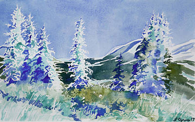 Painting - First Snow by Cascade Colors