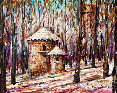 Painting - First Snow by Dariusz Orszulik