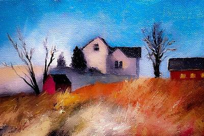 Painting - First Snow Farm House And Barns by Michele Carter