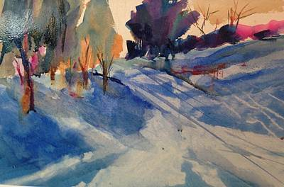 Painting - First Snow by J Worthington Watercolors