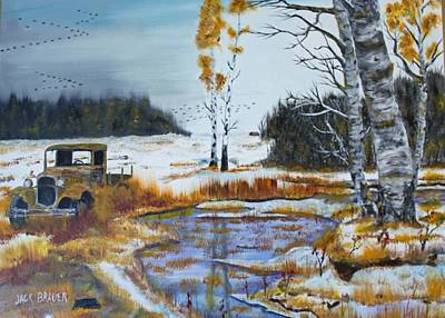 Painting - First Snow by Jack G  Brauer