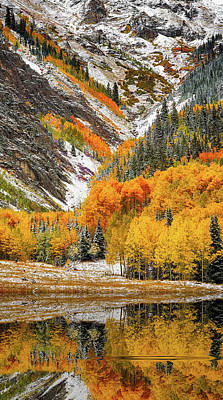 Art Print featuring the photograph First Snow by Jeffrey Jensen