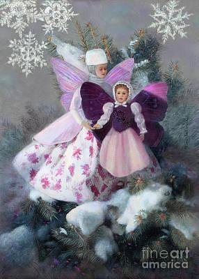 Painting - First Snow by Nancy Lee Moran