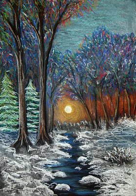 First Snow Art Print by Nancy Mueller