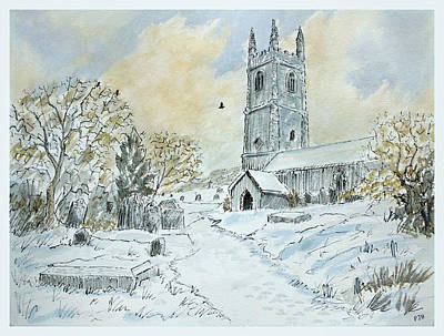 First Snow Of Winter Art Print by Philip Harvey