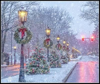 Photograph - First Snow On Main Street by Bernadette Chiaramonte