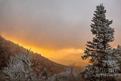Photograph - First Snow On The Blue Ridge Parkway. by Itai Minovitz