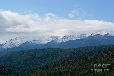 Photograph - First Snow Pikes Peak by Steve Krull