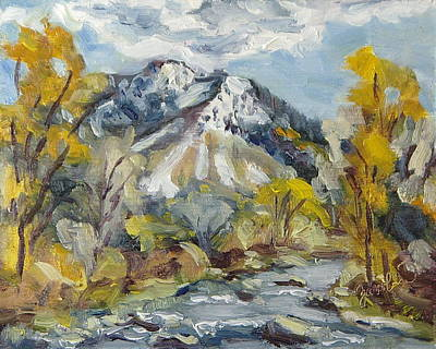 Zanobia Painting - First Snow Steamboat Springs Colorado by Zanobia Shalks