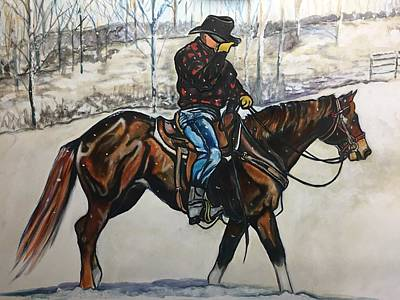 Painting - First Snow by Stephanie Come-Ryker