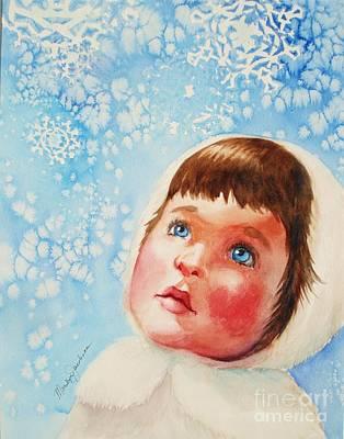 First Snowfall Art Print by Marilyn Jacobson