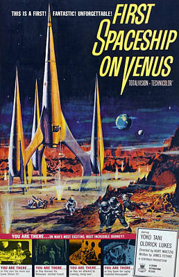 1960s Movies Photograph - First Spaceship On Venus, Poster, 1962 by Everett