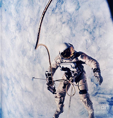 Photograph - First Spacewalk by Nasa