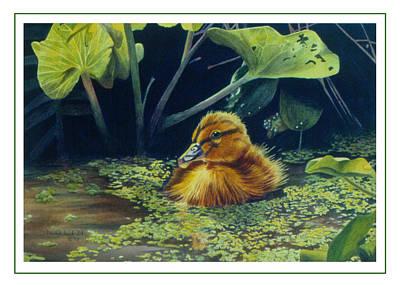 First Spring - Mallard Duckling Art Print