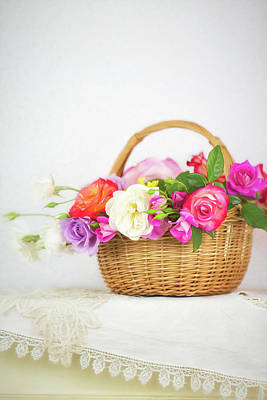 Photograph - First Spring Garden Roses by Susan Gary